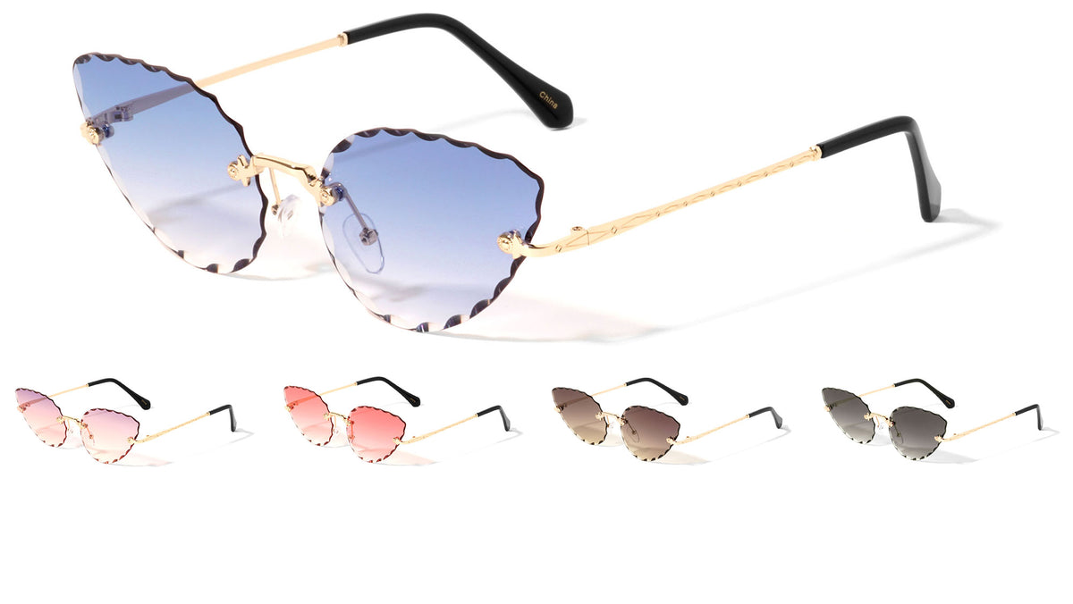 Cat Eye Edge Cut Wholesale Sunglasses