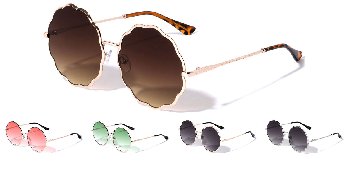 Clover Flower Rounded Wholesale Sunglasses