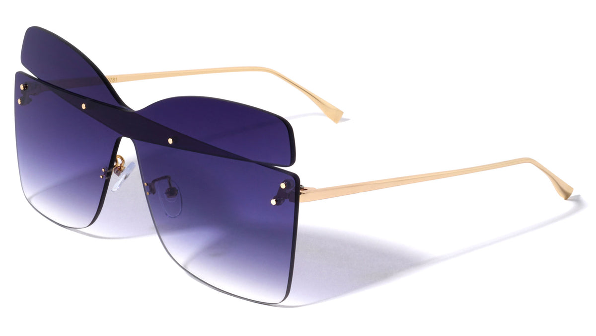Rimless Butterfly Wholesale Sunglasses