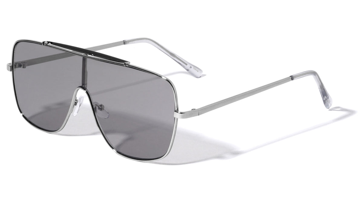 Squared Shield Lens Wholesale Sunglasses
