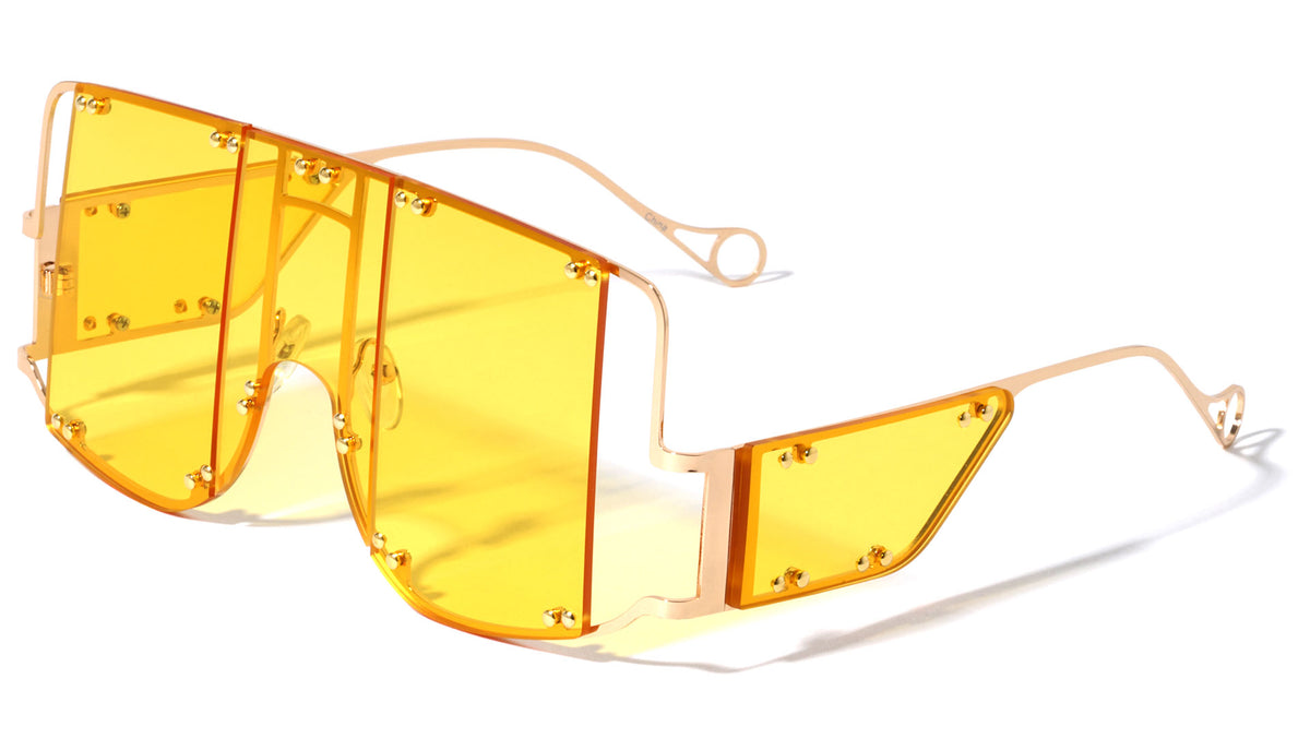 Rimless Oversized Panel Lens Wholesale Sunglasses