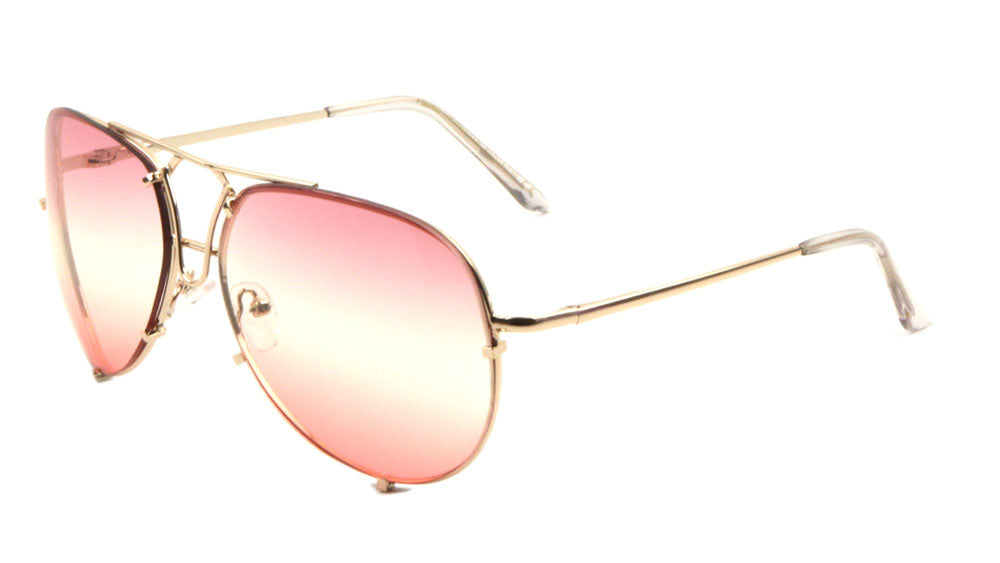 Aviators Triple Oceanic Color Lens Wholesale Sunglasses