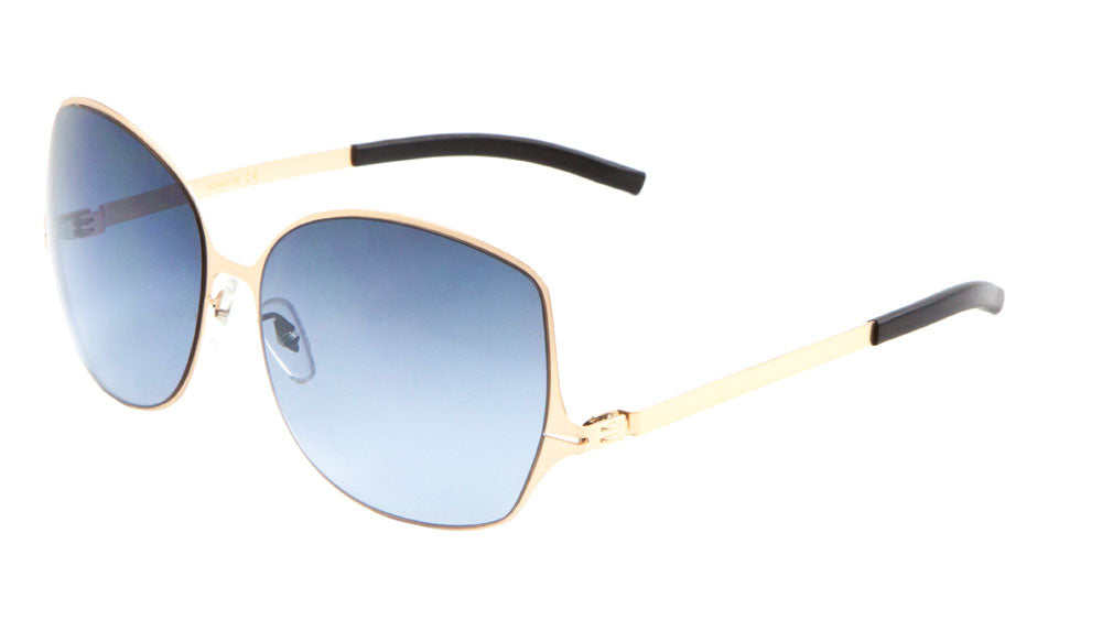 Thin Frame Butterfly Oceanic Color Wholesale Bulk Sunglasses