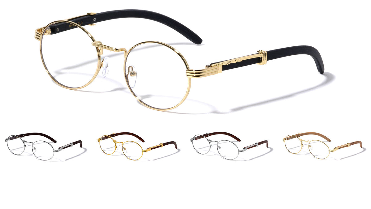 Clear Lens Oval Wholesale Glasses