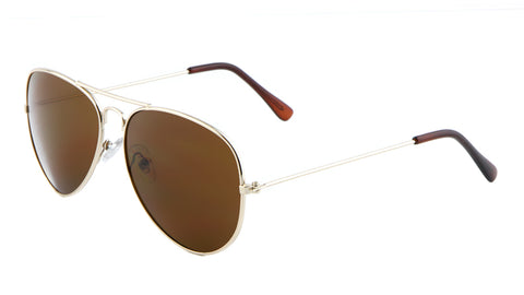 M6258-GOLD - Gold Frame Aviators Wholesale Bulk Sunglasses