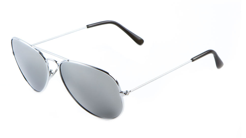 M6258-MR - Mirrored Lens Aviators Wholesale Bulk Sunglasses