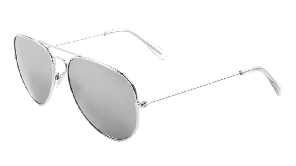 Silver Aviators Wholesale Bulk Sunglasses