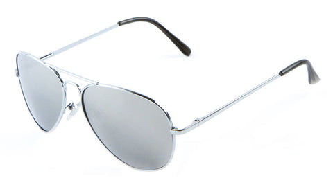 M6259-SILV-SP - Silver Spring Hinge Aviators Wholesale Bulk Sunglasses