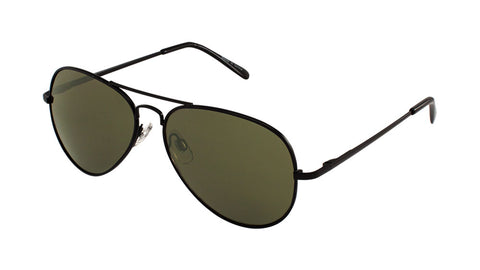 M6259-SP-G15 - Green Lens Spring Hinge Aviators Wholesale Bulk Sunglasses