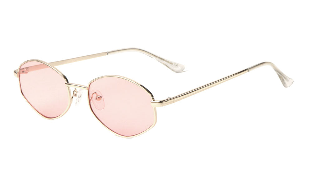 Small Thin Metal Color Lens Sunglasses Wholesale