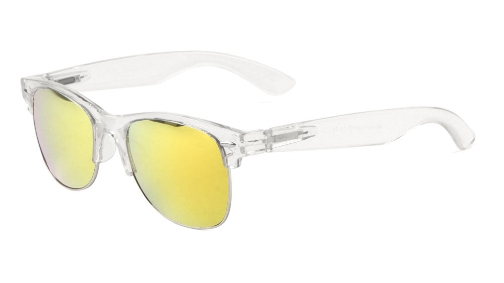 Combination Crystal Frame Color Mirror Sunglasses