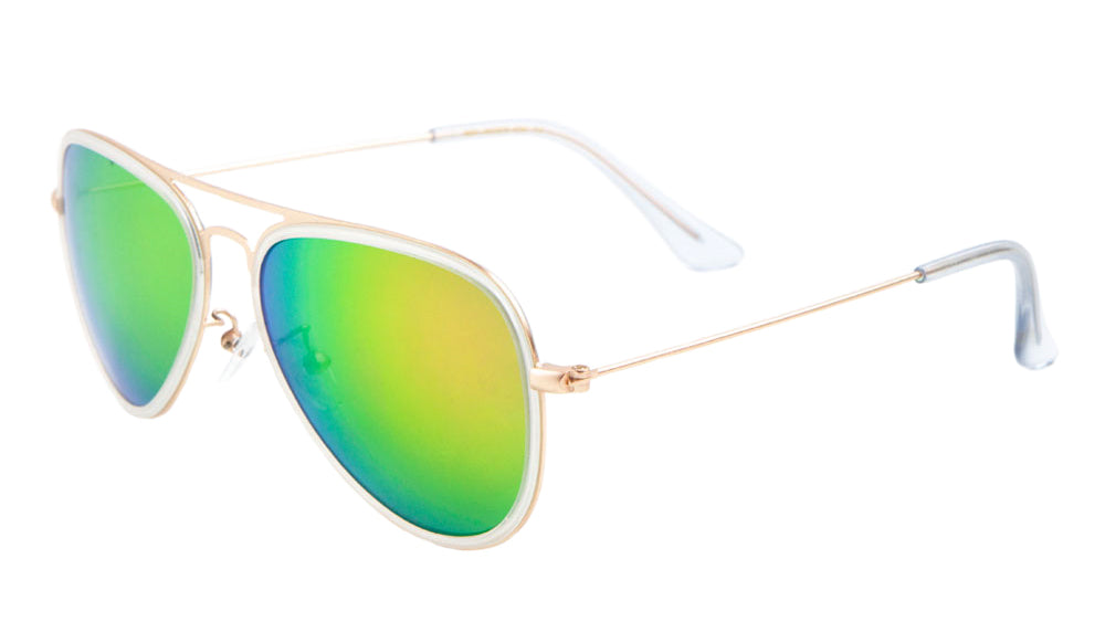 MICA Aviators Color Mirror Wholesale Bulk Sunglasses