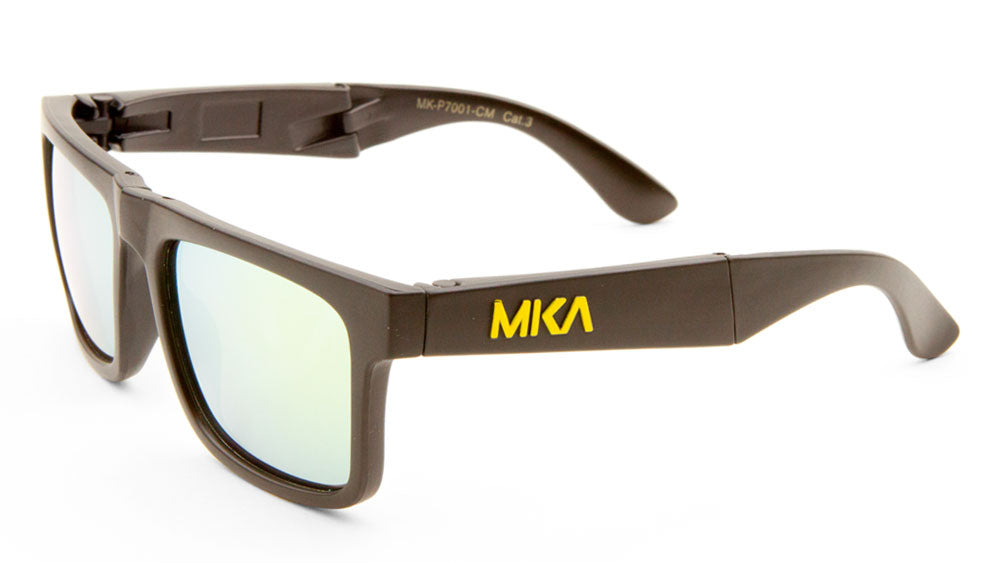 MICA Folding Classic Color Mirror Wholesale Bulk Sunglasses