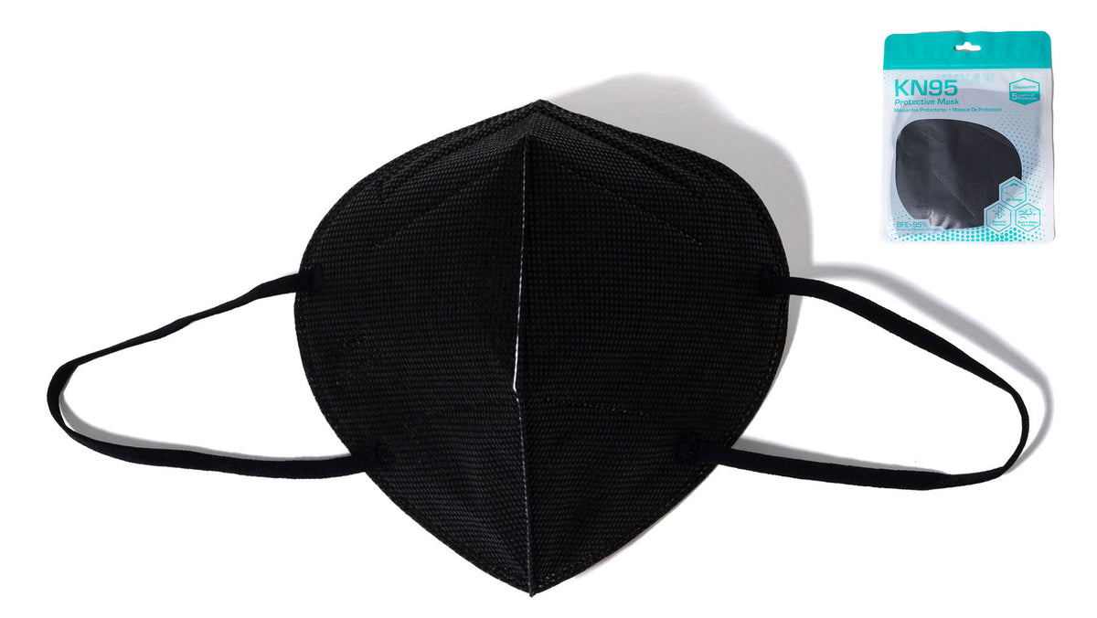 KN95 Black Safety Mask (1 pcs) (not sold by dozen)