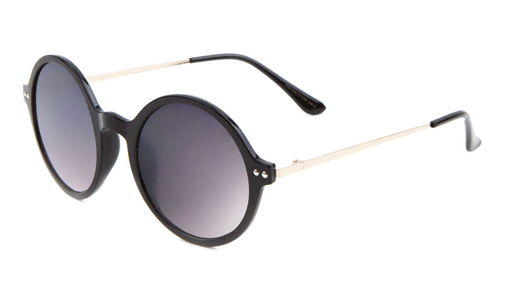 Round Flat Color Mirror Wholesale Bulk Sunglasses