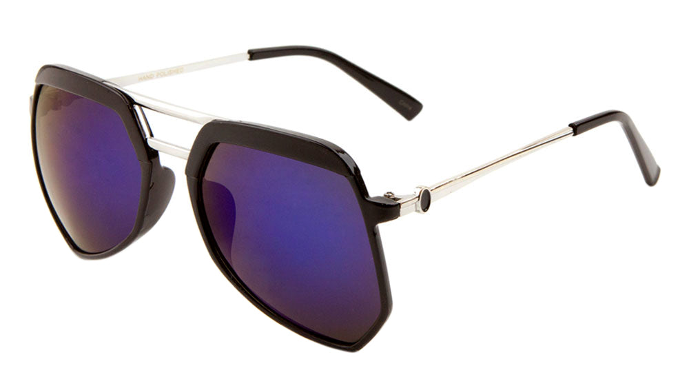 Angled Flat Lens Aviators Wholesale Bulk Sunglasses