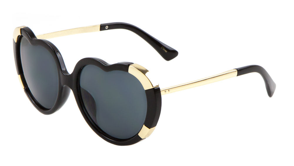 Heart Shaped Frame Thick Rim Wholesale Sunglasses