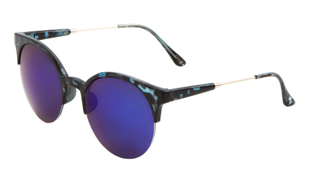 Retro Semi-Rimless Wholesale Bulk Sunglasses