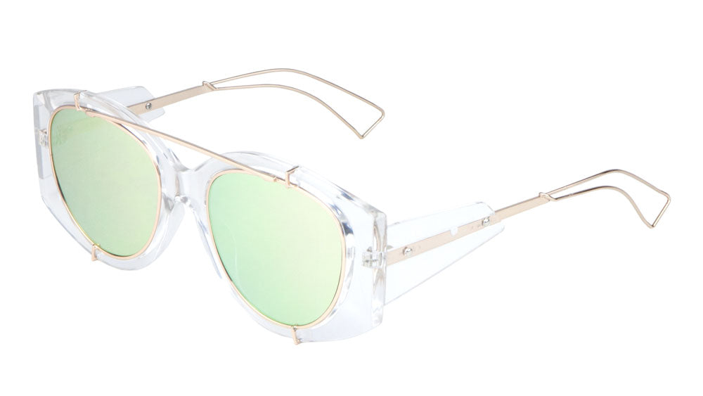 Crystal Color Mirror Wholesale Bulk Sunglasses