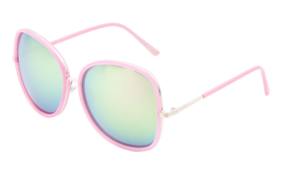 Butterfly Color Mirror Wholesale Bulk Sunglasses
