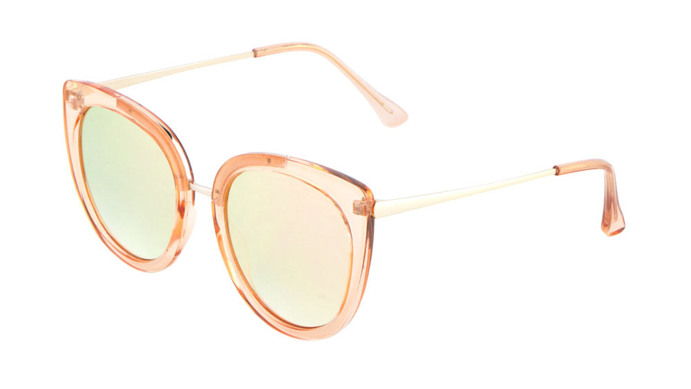 Cat Eye Flat Lens Fashion Wholesale Sunglasses