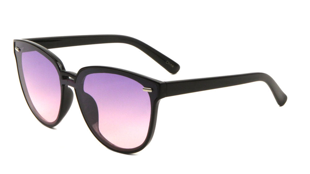 Retro One Piece Oceanic Color Lens Wholesale Bulk Sunglasses
