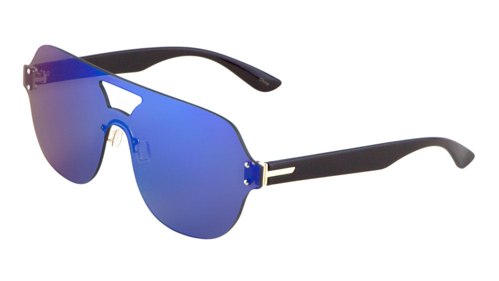 Solid One Piece Lens Wholesale Bulk Sunglasses
