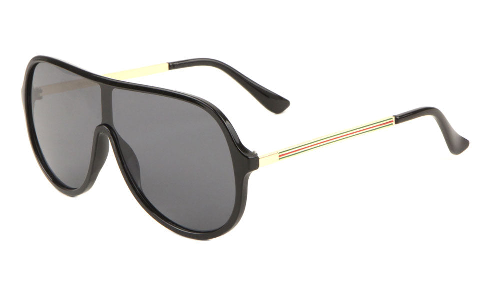 Solid One Piece Shield Fashion Sunglasses Wholesale