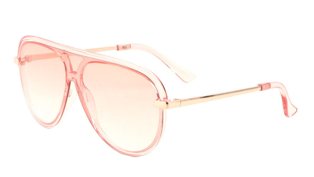 Crystal Color Shield Aviators Sunglasses Wholesale