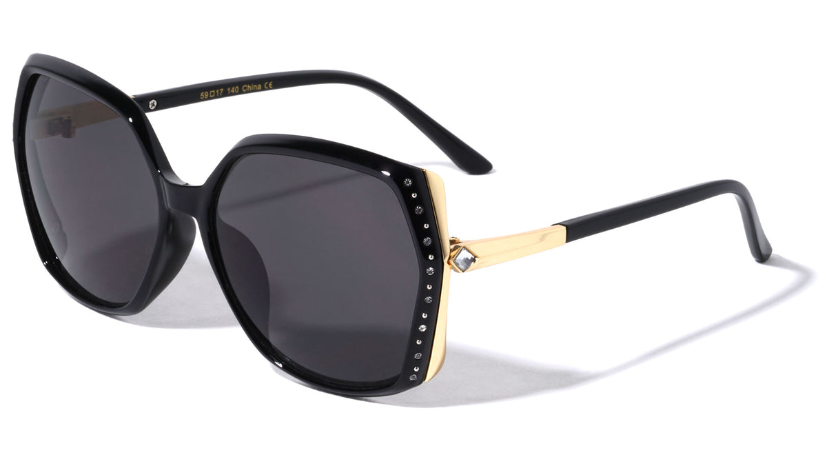 Rhinestoned Butterfly Wholesale Sunglasses