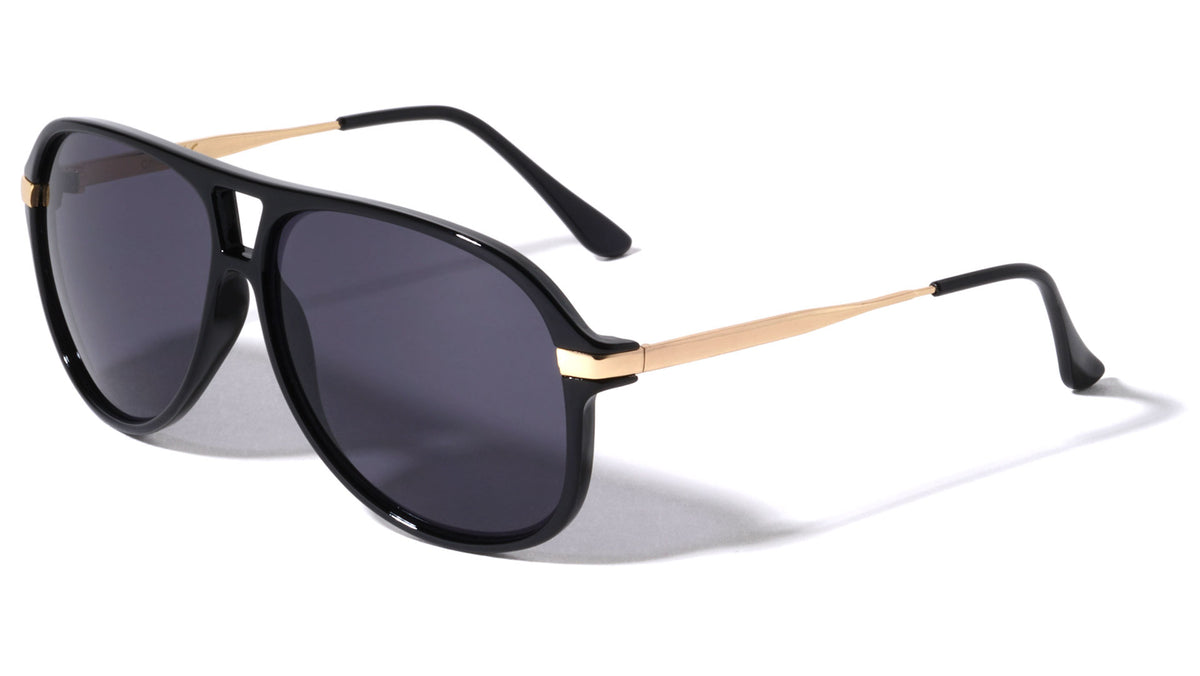 Flat Top Aviators Wholesale Sunglasses