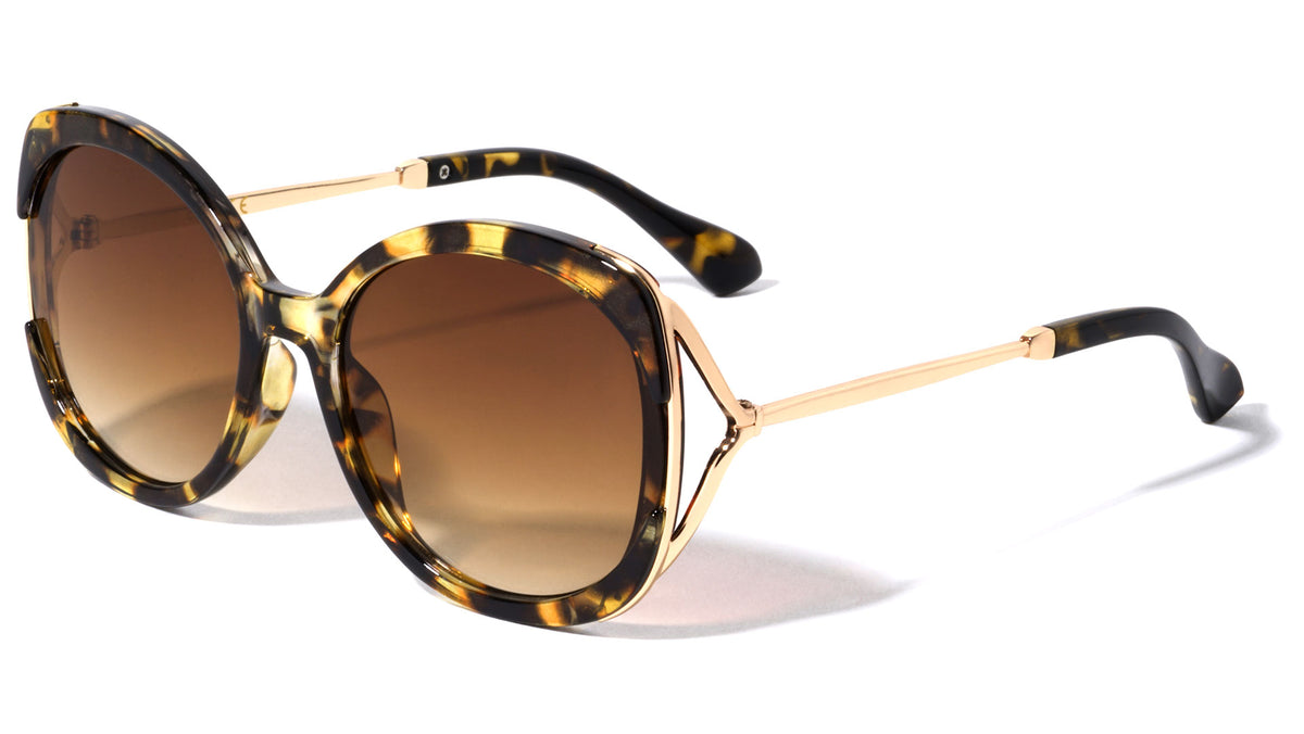 Butterfly Cut Out Temple Wholesale Sunglasses