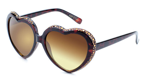 Rhinestone Heart Wholesale Bulk Sunglasses