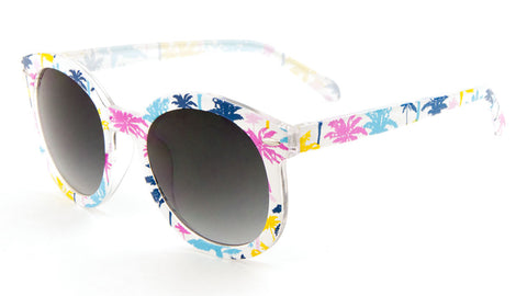 P6142 - Tropical Rounded Retro Fashion Wholesale Bulk Sunglasses