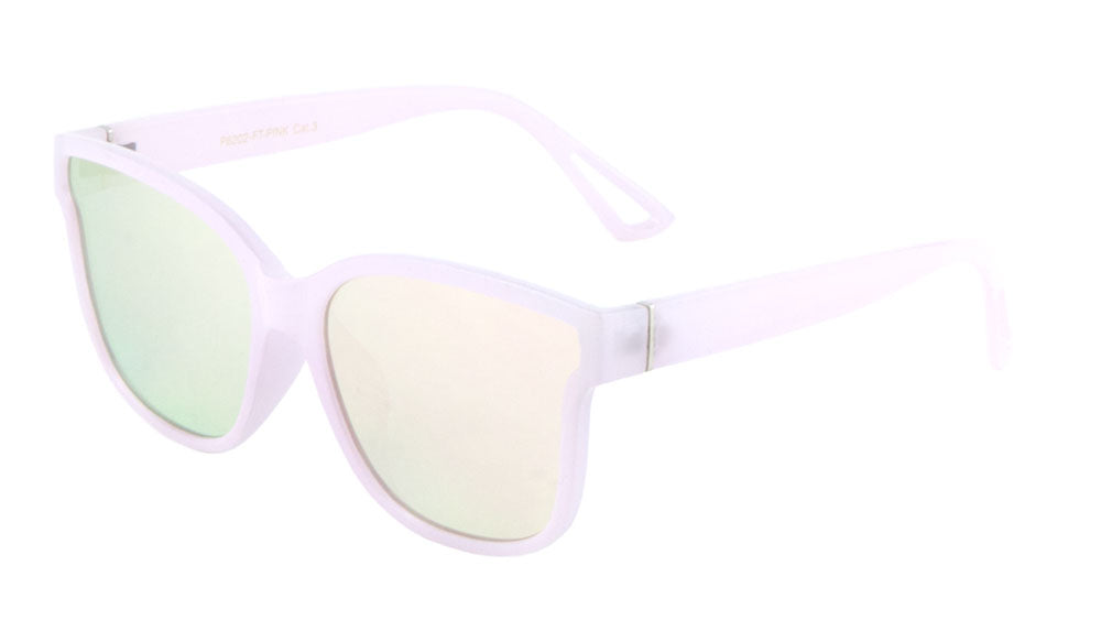 Retro Rose Gold Flat Lens Wholesale Bulk Sunglasses