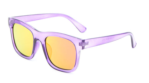 P6204-FT-CM - Classic Flat Color Mirror Lens Wholesale Bulk Sunglasses