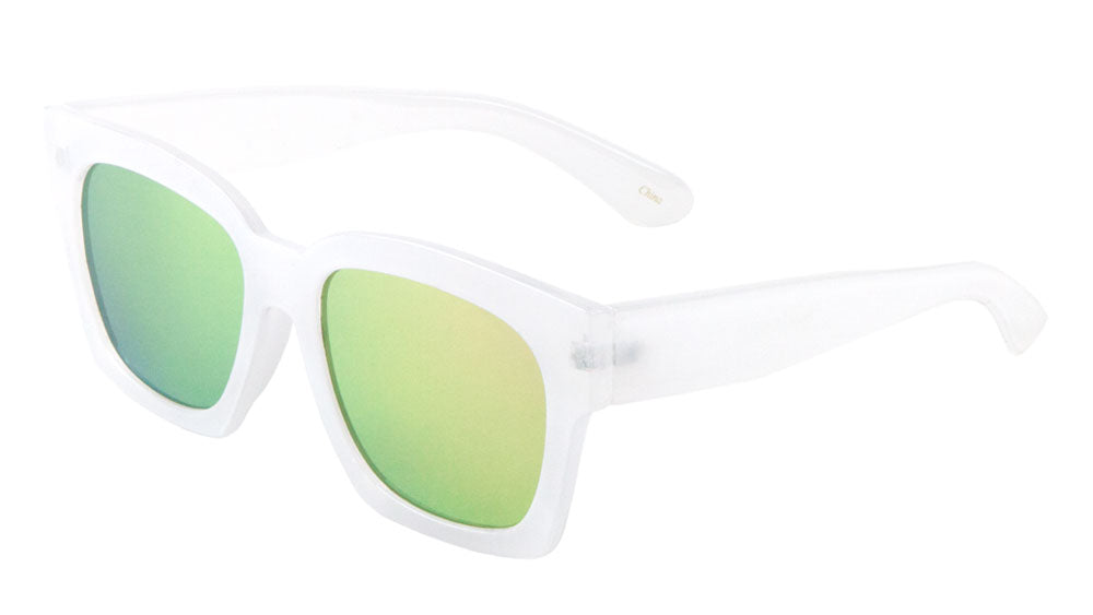P6220-FT-CM - Classic Flat Color Mirror Lens Wholesale Bulk Sunglasses