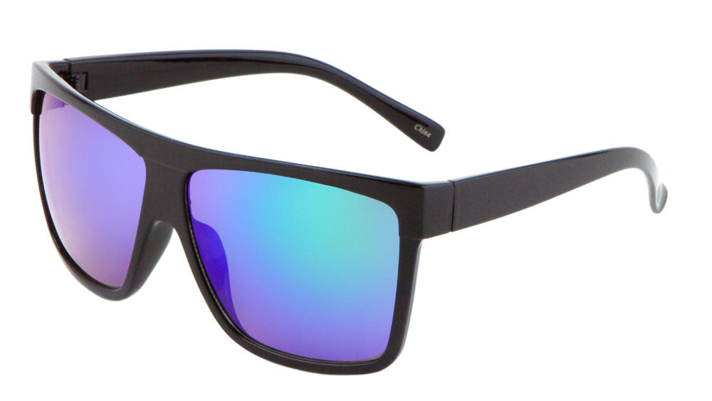 Classic Flat Top Color Mirror Lens Wholesale Bulk Sunglasses