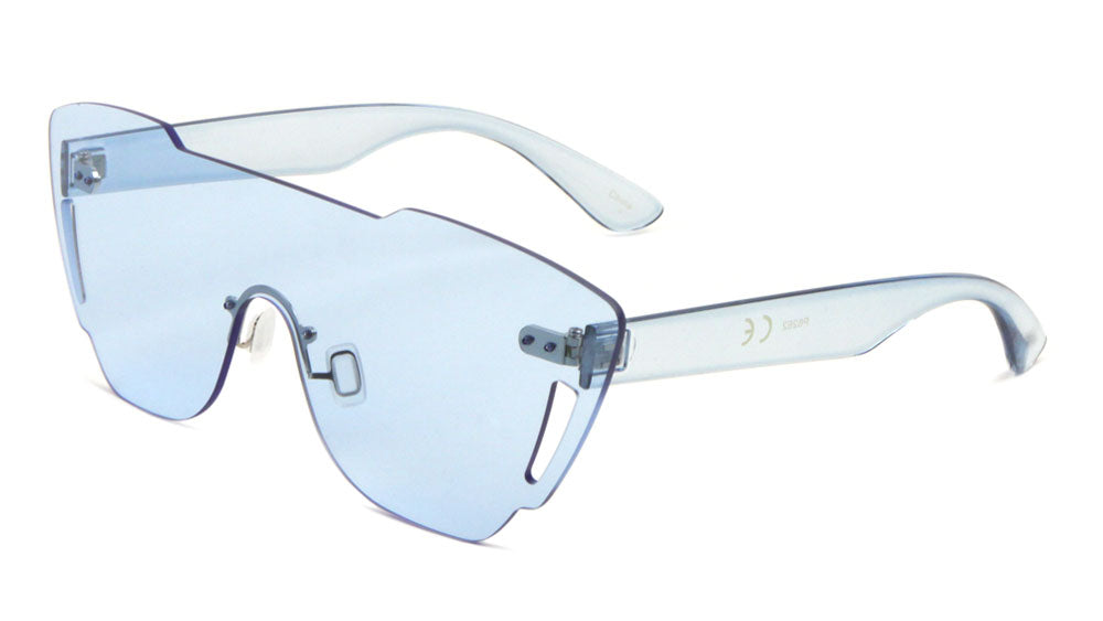 Crystal Rimless Solid One Piece Lens Wholesale Bulk Sunglasses