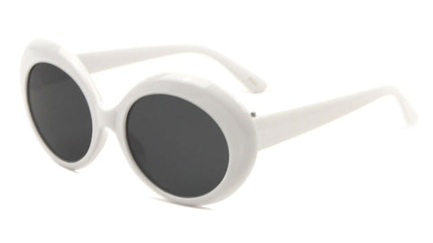 P6279-WHITE - Thick White Oval Fashion Wholesale Bulk Sunglasses