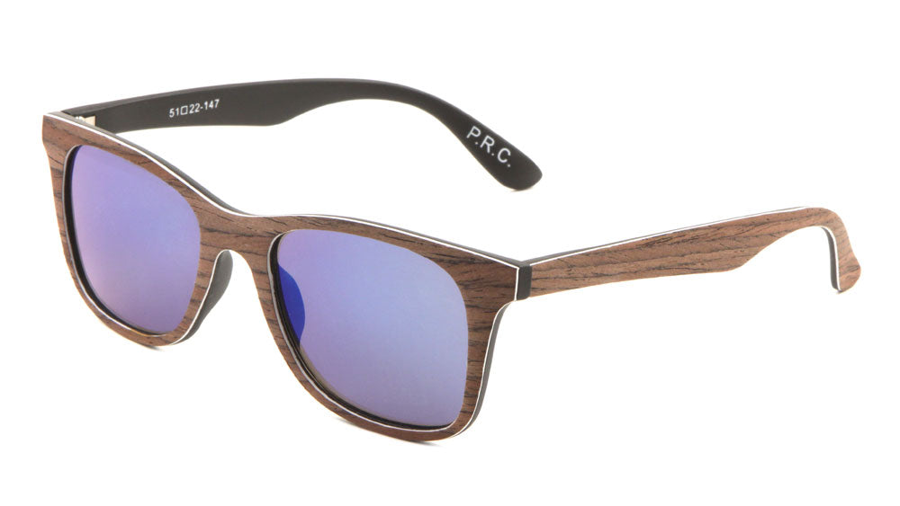 Classic Wood Pattern Fabric Wholesale Bulk Sunglasses