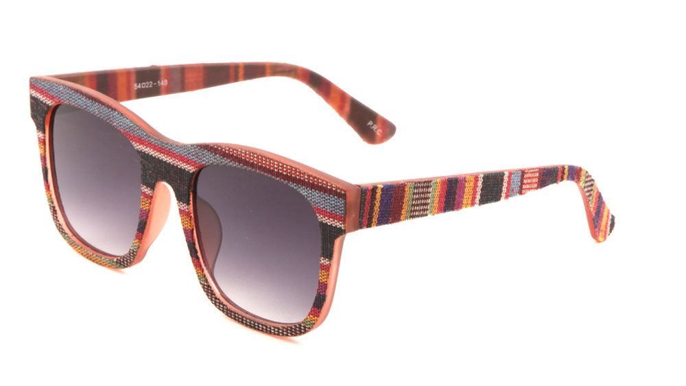 Classic Rectangular Fabric Pattern Wholesale Bulk Sunglasses