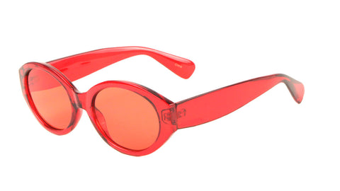 P6307-CO - Oval Color Crystal Wholesale Sunglasses