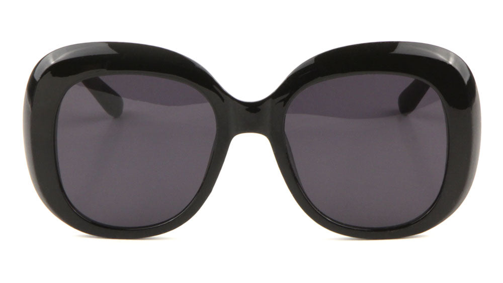 Black Thick Rim Squared Butterfly Wholesale Bulk Sunglasses