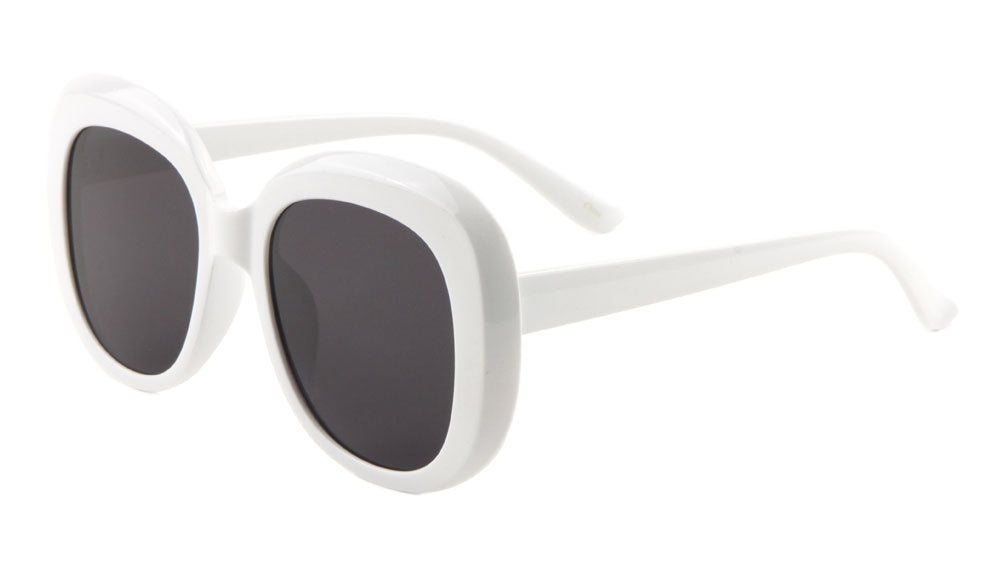 White Thick Rim Squared Butterfly Wholesale Bulk Sunglasses