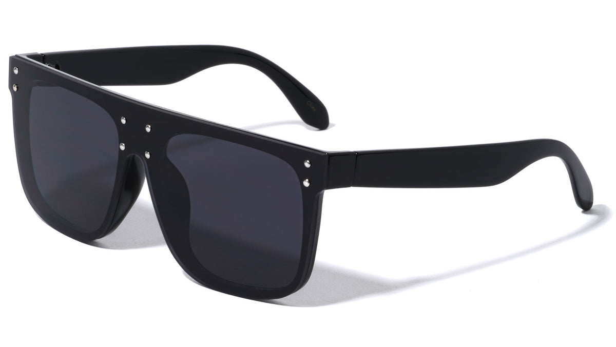 Flat Top Super Dark Lens Wholesale Sunglasses