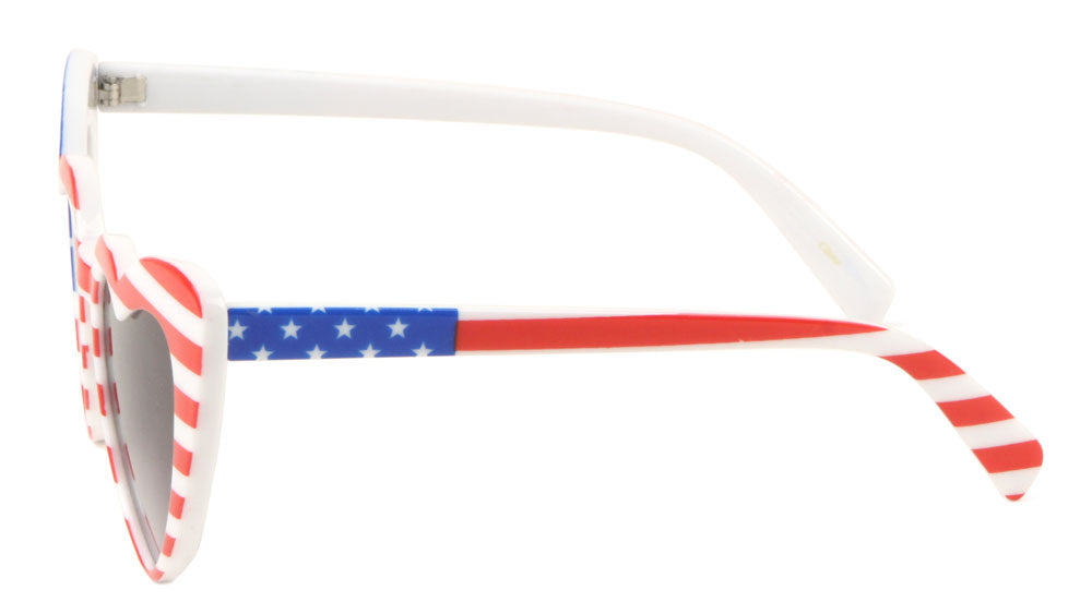 American Flag Heart Shaped Wholesale Sunglasses