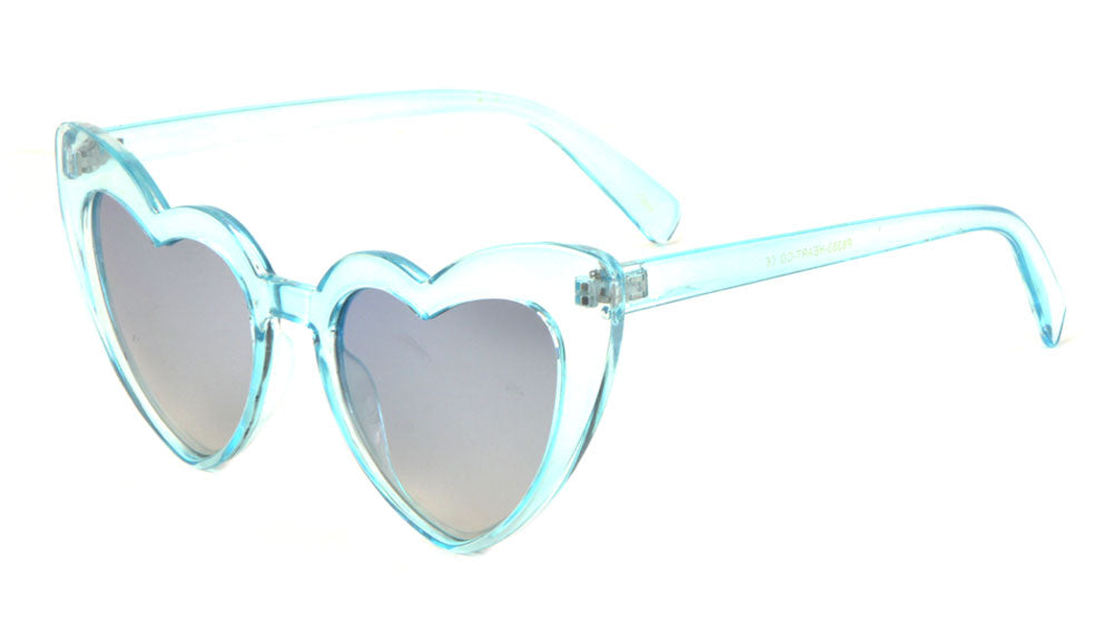 Heart Shaped Color Lens Wholesale Sunglasses