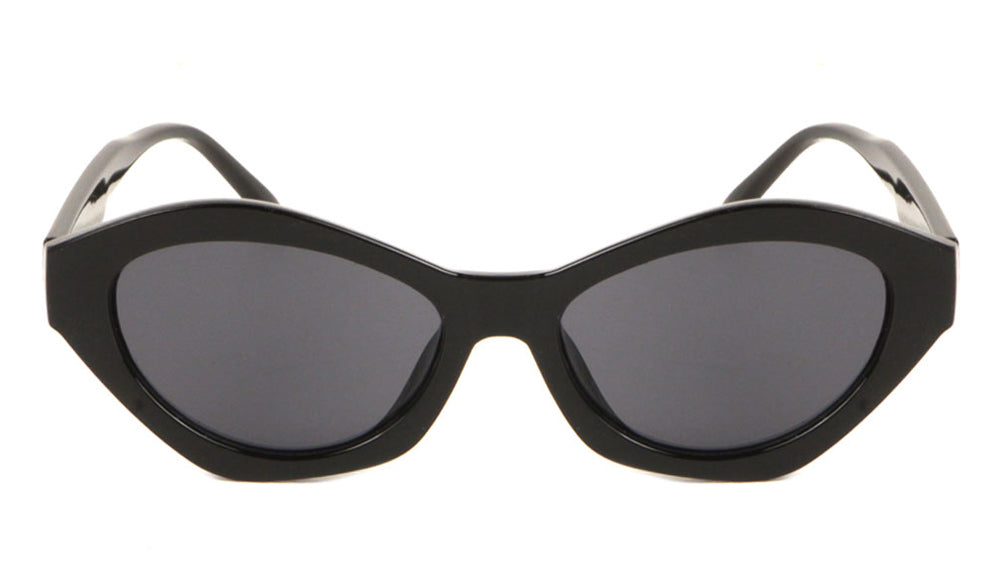 Angled Crystal Color Cat Eye Wholesale Sunglasses