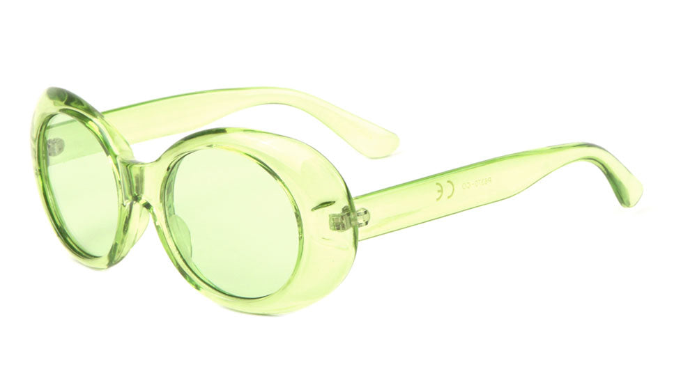 Oval Crystal Color Fashion Wholesale Sunglasses